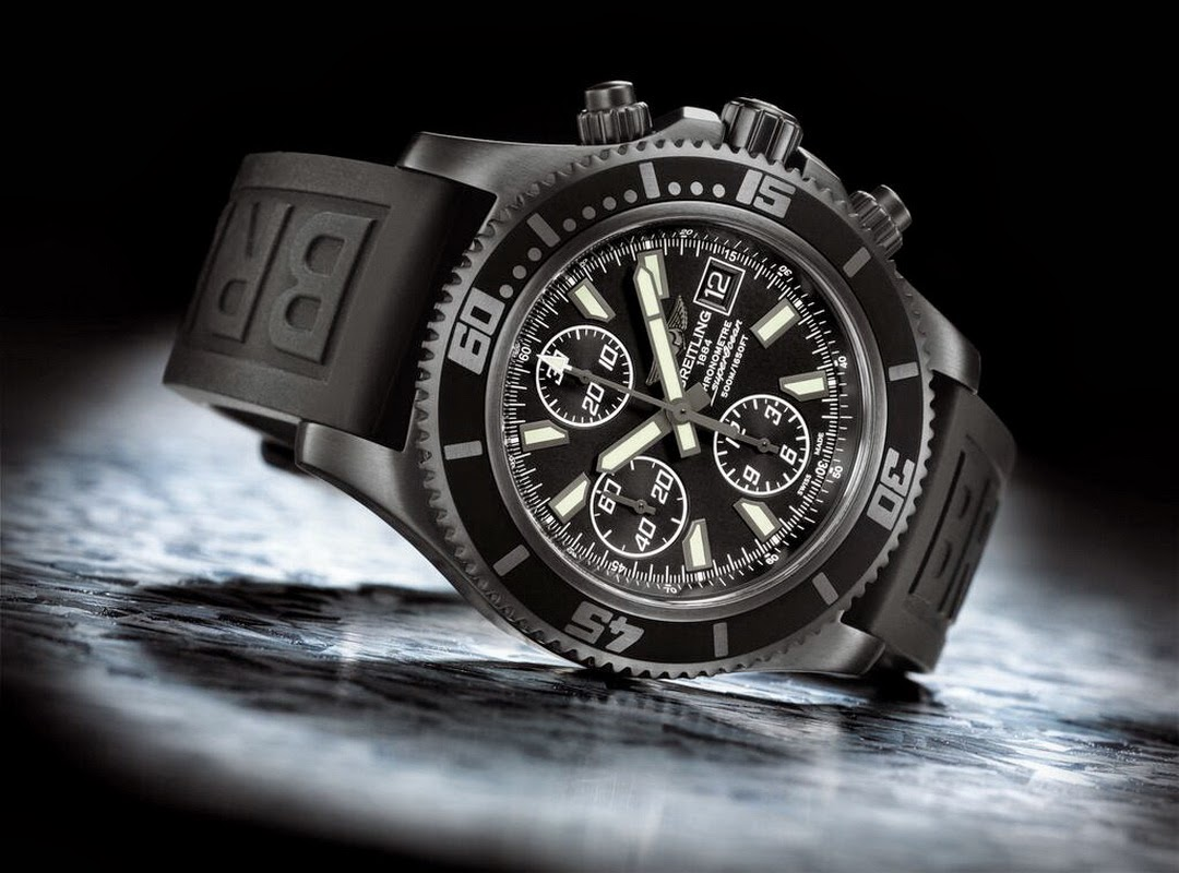 BREITLING Superocean Chronograph II BLACKSTEEL
